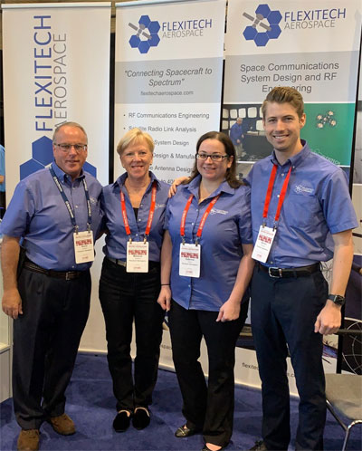 Flexitech Aerospace's team at SmallSat 2019